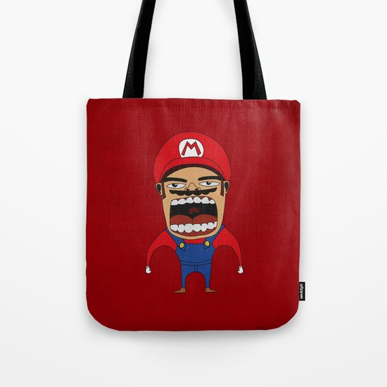 Screaming Mario Tote Bag