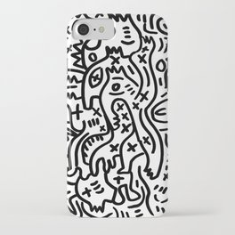 Graffiti Street Art Black and White iPhone Case