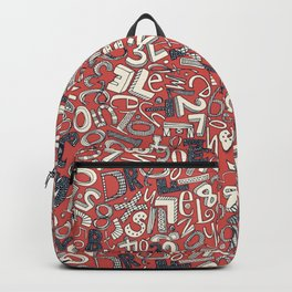 A1B2C3 coral red Backpack