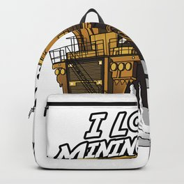 I Love Mining Truck Backpack