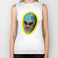 majoras mask Biker Tanks featuring mask by mark ashkenazi