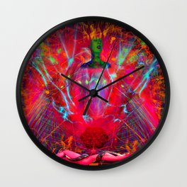 Female Fire Wall Clock