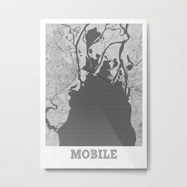 Mobile Pencil City Map Metal Print
