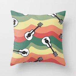 Mexican Guitars Throw Pillow
