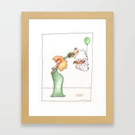The Clever Cow 2 Framed Art Print
