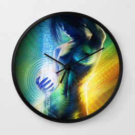 Prismatic Singularity Wall Clock