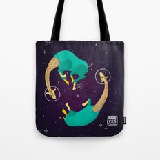 Space Giraffes Tote Bag