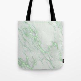 Marble Love Green Metallic Tote Bag