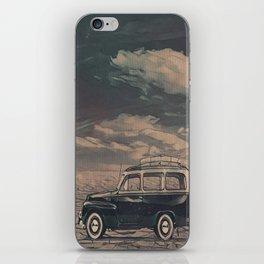 Old volvo in the desert iPhone Skin