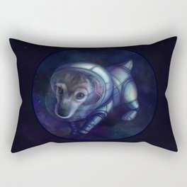 In the footsteps of Belka and Strelka Rectangular Pillow