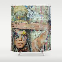 ice cream Shower Curtains featuring Ice Cream by Katy Hirschfeld
