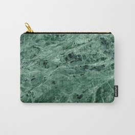 Green Marble Print Carry-All Pouch
