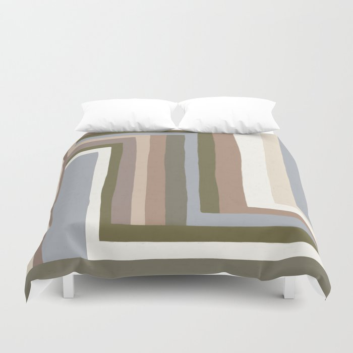 Abstract Neutrals III Duvet Cover