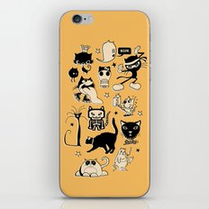 Cat Menagerie iPhone & iPod Skin