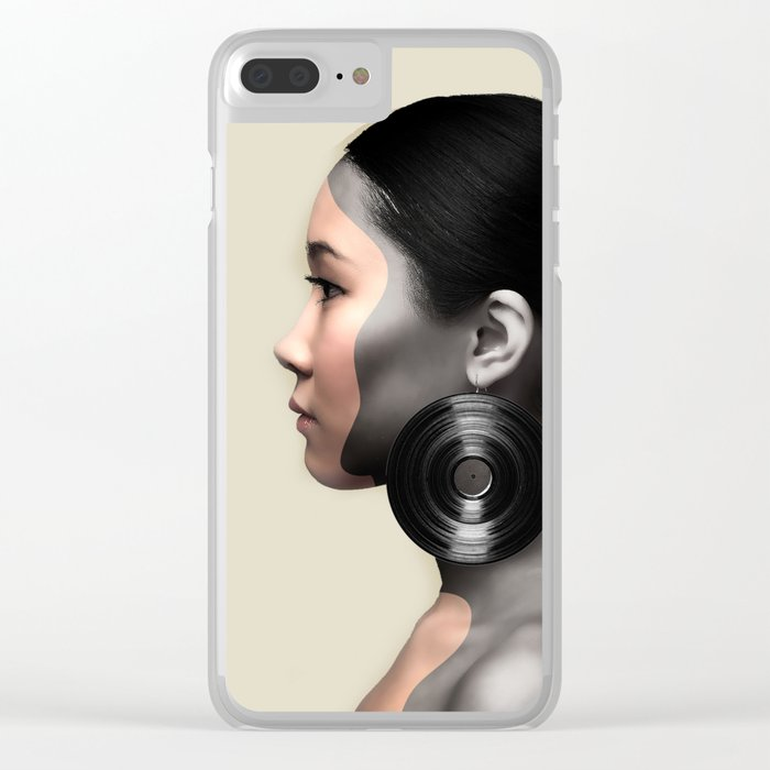 Fear of Falling Clear iPhone Case