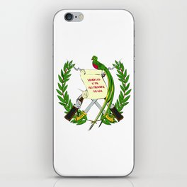Guatemala flag emblem iPhone Skin