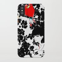 valentine iPhone & iPod Cases featuring Valentine by Priscilla Moore