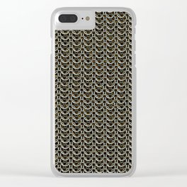 Faux Chainmail over Canvas Clear iPhone Case