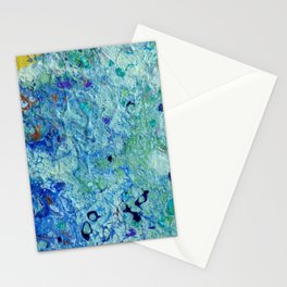 Blue Puddle Obstructing the Path of the Yellow Brick Road by annmariescreations Stationery Cards