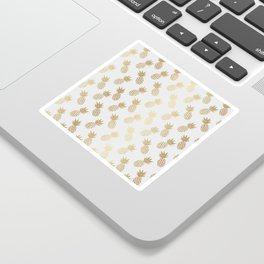 Gold Pineapple Pattern Sticker