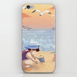 Boy On The Beach iPhone Skin