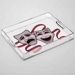 Comedy And Tragedy Theater Masks Acrylic Tray