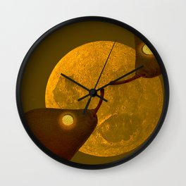 les mots d'amour sous la lune   (The words of love under the moon) Wall Clock