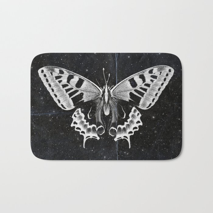 Butterfly in the stars Bath Mat