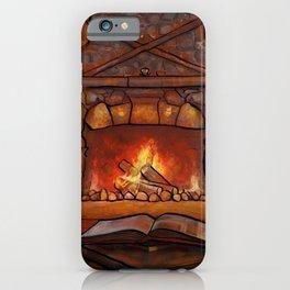 Fireplace (Winter Warming Image) iPhone Case