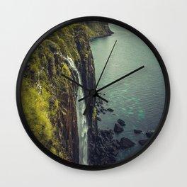Ocean Waterfall Wall Clock