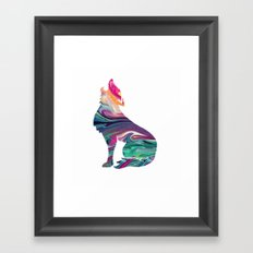 swirly wolf Framed Art Print