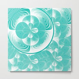 Light turquoise abstract Metal Print