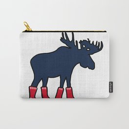 Moose In Red Socks Carry-All Pouch