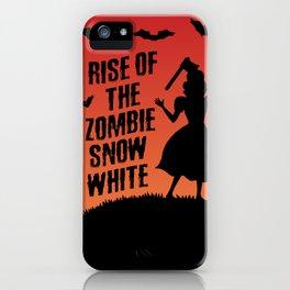 Halloween Zombie Snow White Humor Horror iPhone Case