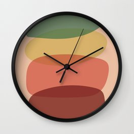 Pastel Pebble Stones Wall Clock