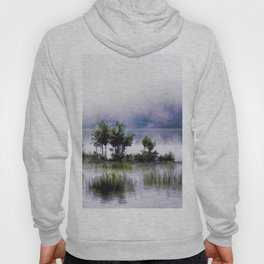 Watercolor Painting of Landscape on the Water (Color) Hoody