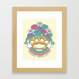Fight with Love Framed Art Print