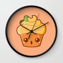 Spooky Cupcake - Pumpkin Wall Clock