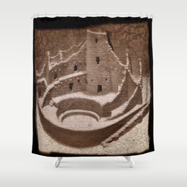 The Cliff Dwellers - Legends Of America Shower Curtain