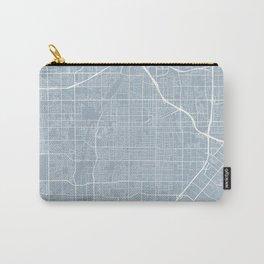Santa Ana Map, USA - Slate Carry-All Pouch