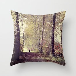 Story Book Forest Throw Pillow