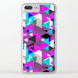 High Heels Geometric Pattern Clear iPhone Case