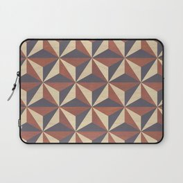 Brown, Tan and Black Geometric Pattern Laptop Sleeve