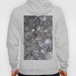 Sparkling Clear Light Purple Amethyst Crystal Stone Hoody