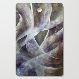 White Ribbons Cutting Board
