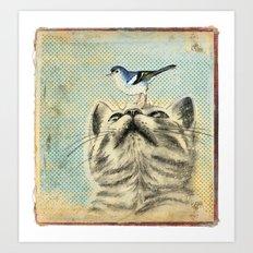 Bird house Art Print