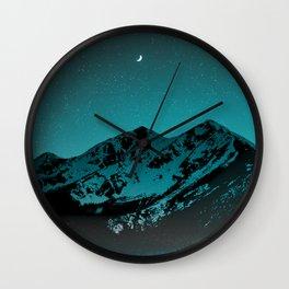 Mountains at night series II // Boulder Colorado Wall Clock