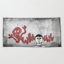 Warped Thoughts Beach Towel