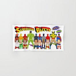 Superhero Butts Crack Smack Hand & Bath Towel