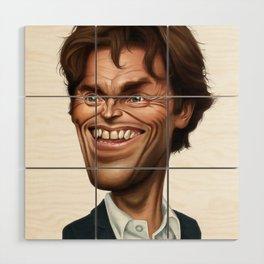 Willem Dafoe Wood Wall Art